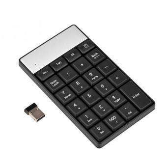 Harga Black USB 2.4G Wireless Numeric Keypad 23 Keys Small Mini Keyboard With Calculator Key For Accounting Tablet Laptop Desktop - intl