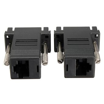 Harga 2Pack VGA Extender Male to LAN CAT5 CAT5e CAT6 RJ45 Network Cable Female Adapter
