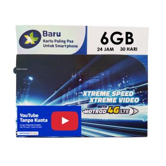 XL Perdana 4G LTE Xtra Combo 6GB + Gratis Unlimited Youtube + Nelpon 20 Menit ke