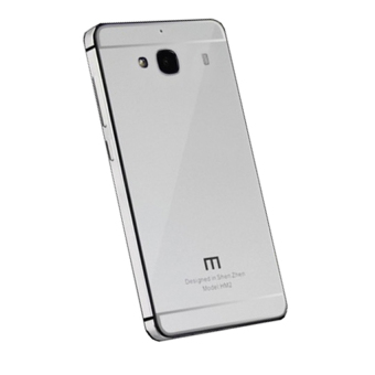 Harga Hardcase Aluminium Tempered Glass Series For Xiaomi Redmi 2s - Silver
