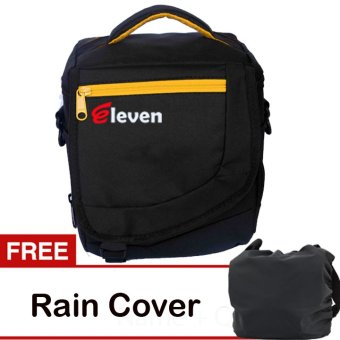 Harga Eleven Camera Bag - Hitam + Gratis Rain Cover