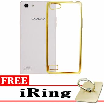 Softcase Silicon Jelly Case List Shining Chrome for Oppo Neo 7 (A33) - Gold