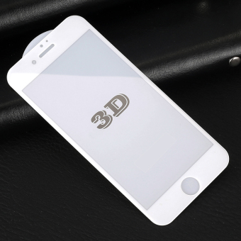 Harga 3D Curved Full Cover 9H Hardness Tempered Glass Screen Protector Film for iPhone 6 6S 4.7inch (Not Carbon Fiber) (White) - intl