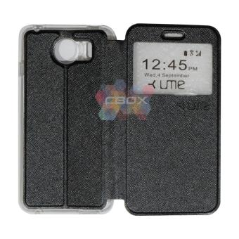 Harga Ume FLip Leather Phone Cover for Himax M1 Sarung Case / Flipshell / FlipCover / Leather Case / Sarung HP / View - Hitam