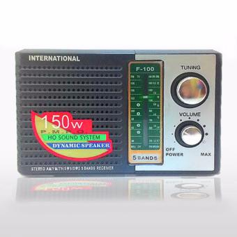 Harga Internasional Radio FM AM SW Portable F100 - Hitam