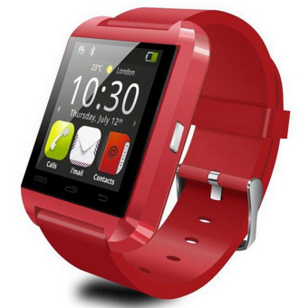 Harga Smartwatch Bluetooth Smart Watch U8 WristWatch for IOS Android Samsung Phone Wearable Electronic Device (Red)