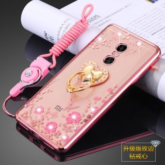 Harga Secret Garden Rhinestone Soft Shell Case Cover For Xiaomi Redmi Note 4X(Love rose gold) - intl