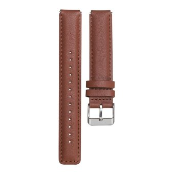 Harga Leather/Stainless Steel Watch Strap For Huawei Watch Talkband B3(Brown) - intl