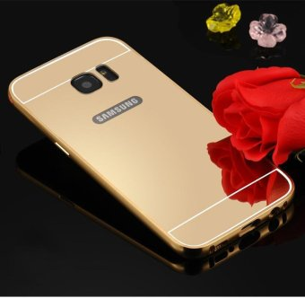Harga Metal frame mobile phone case electroplating mirror phone protection shell for Samsung C9 Pro - intl