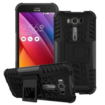 "Harga ZE500KL Case, Hard PC+TPU Shockproof Tough Dual Layer Cover Shell for ASUS Zenfone 2 Laser 5.0"", Black - intl"