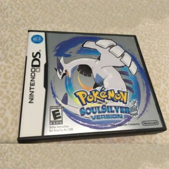 Harga 3DS Lite 2DS/3DS/DSI/DS For Pokemon SoulSilver Version Game Card For Fans