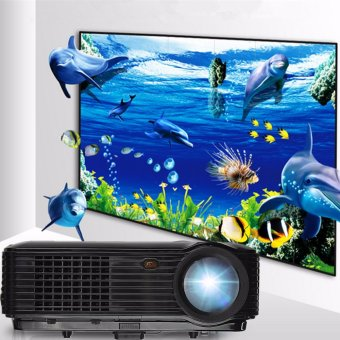 Harga Full HD 1080P 5000 Lumens 3D LED Projector Home Cinema Theater Multimedia HDMI - intl