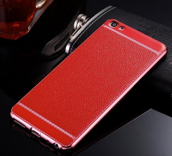 Harga Phone case soft leather mobile phone case litchi grain cortical soft shell for vivo X5 pro - intl