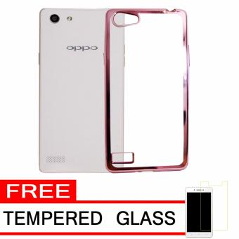 Softcase Silicon Jelly Case List Shining Chrome for Oppo Neo 7 (A33) - Rose
