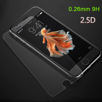 Harga 5pcs/pack 0.26mm 2.5D Anti Shatter 9H Protective Premium Film Tempered Glass Screen Protector for iPhone 7 4.7inch + Cleaning Kit - intl