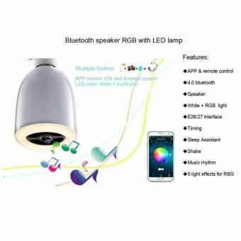 Harga Bola Lampu LED Dengan Speaker Bluetooth - White