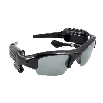 5 in 1 Bluetooth 4.0 Sunglasses Sport Glasses Camera + Video + Mp3+ 8GB of Memory + bluetooth Sunglass 1.3 Image Recording Speed30fps(Black)