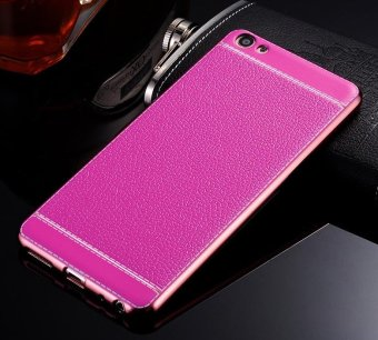 Harga Phone case soft leather mobile phone case litchi grain cortical soft shell for vivo Y55 - intl