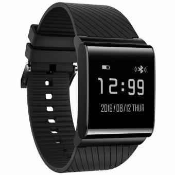 Harga 4connect X9 Plus Blood Pressure & Oxygen with Heart Rate Monitor with Activity tracker Smartwatch- Black