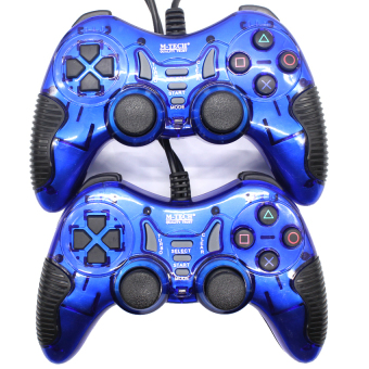 Harga M-Tech 8200 Gamepad Stik Double Getar Turbo - Biru