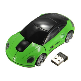 Harga BESTRUNNER 2.4GHz Wireless USB Optical Car Mouse Mice Cordless For PC Laptop Black And Green