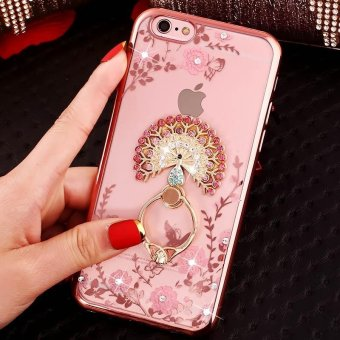 Harga For iPhone 6 iPhone 6s Soft Phone Case Lady Phonecase Cover With Ring Stand Holder - intl
