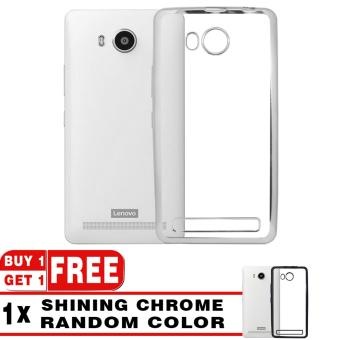 Harga Softcase Silicon Jelly Case List Shining Chrome for Lenovo A7700 - Silver + Free Softcase List Chrome