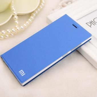 Flip Leather Wallet Case Cover for Xiaomi Redmi 3s blue LT intl .