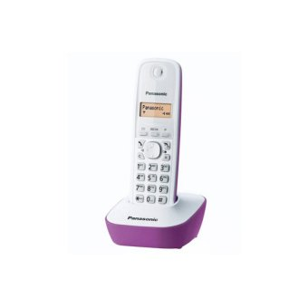 Harga Panasonic Cordless Phone KX-TG1611 Wireless Telephone - Ungu