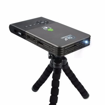 Harga Android Smart Mini LED C2 DLP Projector Portable Long life LED lamp Full HD LED home cinema WiFi Bluetooth 4.0 projector - intl