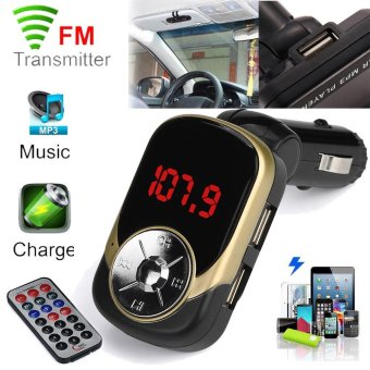 Harga Erpstore LCD Car MP3 MP4 Player Wireless FM Transmitter Modulator SD/ MMC Card w/ Remote - intl