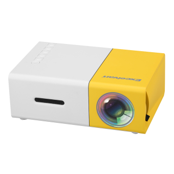 Harga Excelvan YG300 Mini LED Projector 320*240p 50 Lm EU Plug (Yellow+White)