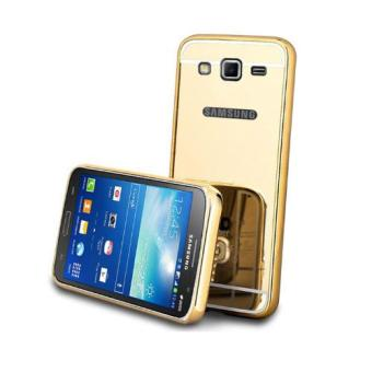 Harga Case Metal Samsung Galaxy J1 Mini Bumper Mirror Slide - Gold