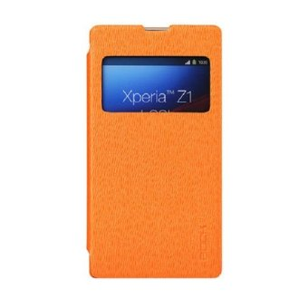 Harga Rock Sony Xperia Z1 L39H Excel Series Leather Case - Orange