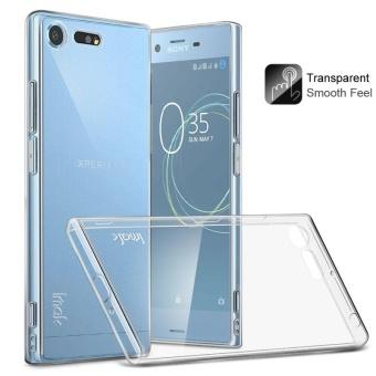 IMAK Clear TPU lembut Mobile casing ponsel + TPU tahan ledak layar Film untuk Sony Xperia XZ Premium - transparan