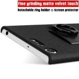 Detail Gambar IMAK Matte Plastik Case Keras With Ring Kickstand FOR Sony Xperia XZ Premium-hitam Terbaru
