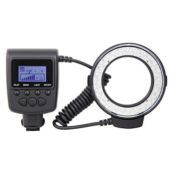 Harga (IMPORT) RF-550D RF 550D Macro 48 pieces LED Ring Flash Light forCanon Nikon Pentax Olympus Panasonic DSLR - intl