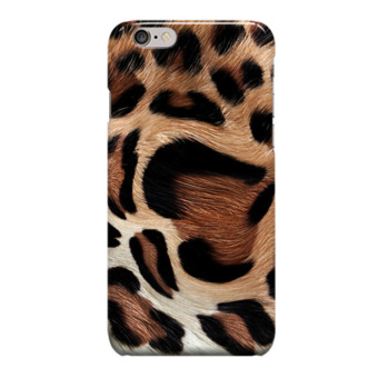 Indocustomcase Leopard Skin Motif Cover Hard Case for Apple iPhone 6 Plus
