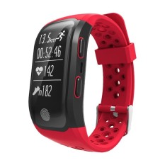 IP68 Waterproof Bluetooth Smart Bracelet with Sleep Monitor - Red - intl
