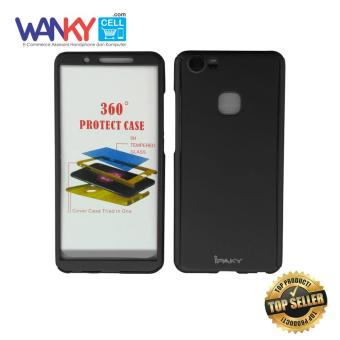 Ipaky 360 Protect Case Full Body Protection With Tempered Glass For VIVO V7 - Hitam .