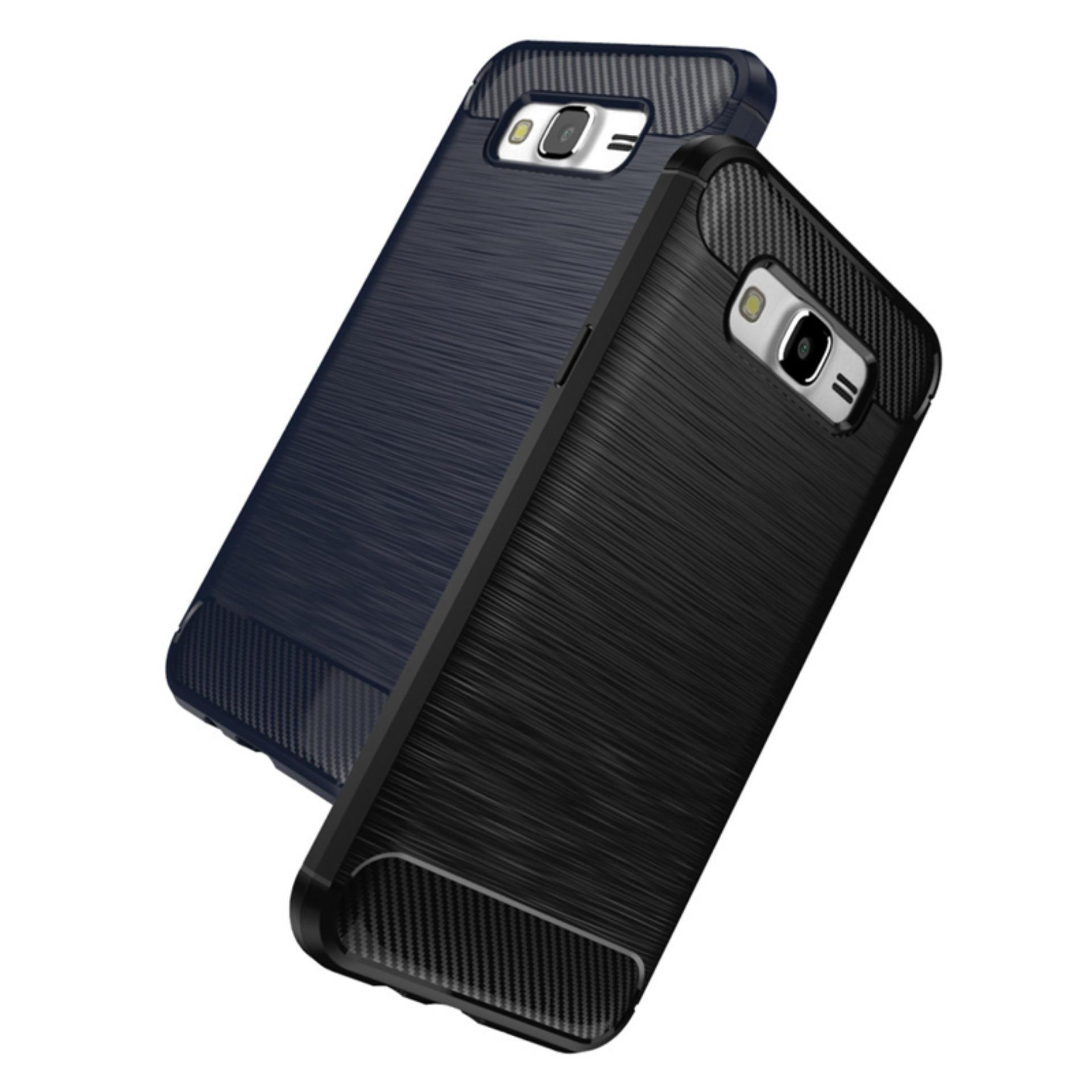 iPaky Carbon Fiber Shockproof Hybrid Case for Samsung Galaxy GrandPrime G530 / G531 - Black +