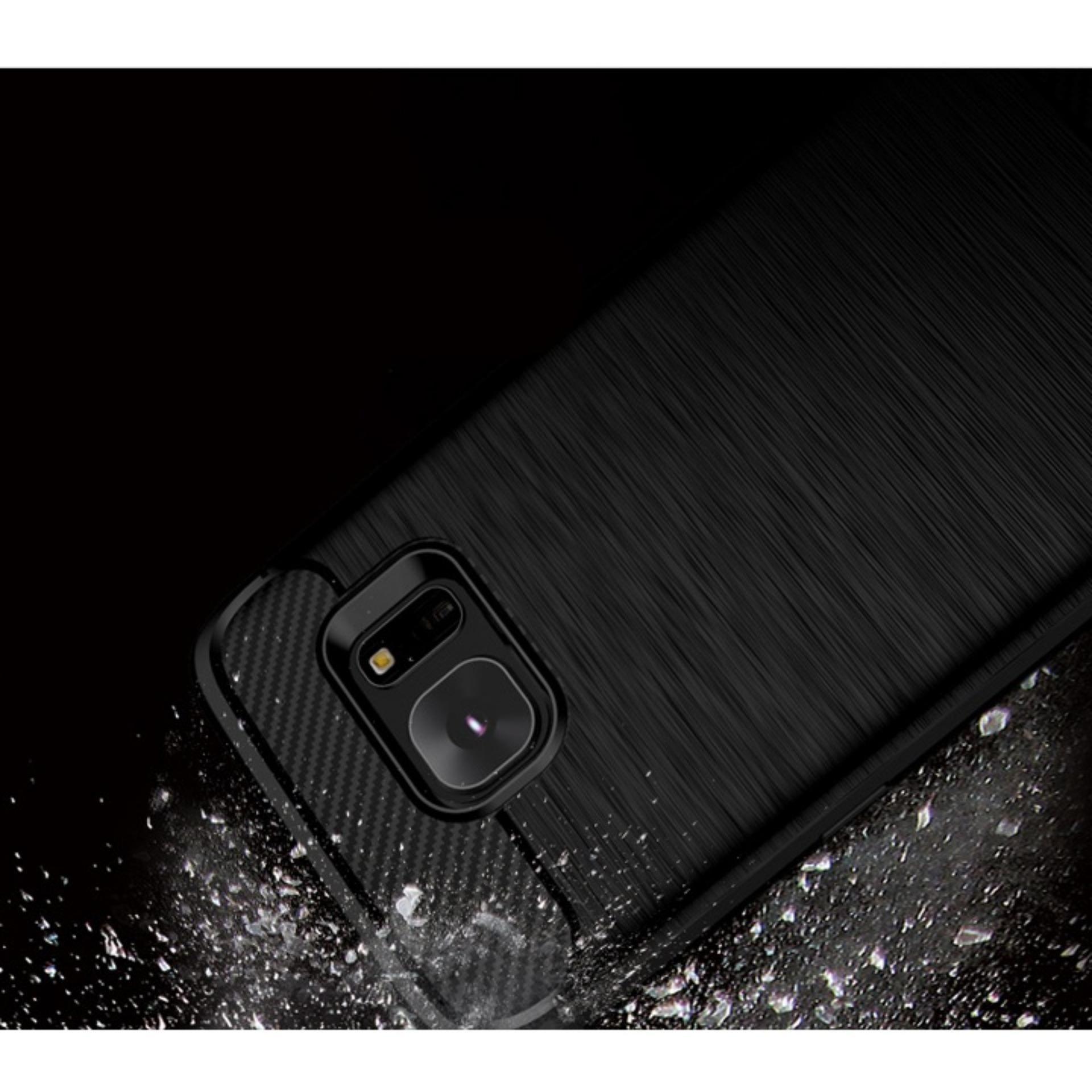 kenzoe iPaky Carbon Fiber Shockproof Hybrid Case for Samsung Galaxy S7 Edge