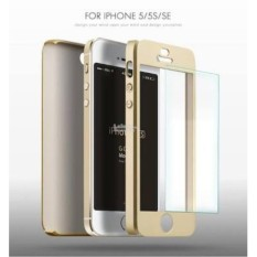 iPaky Hardcase 360 For Apple iPhone 5 / 5s / SE Full Protection Emas - Free Tempered Glass