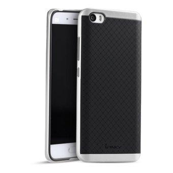 Ipaky Karet Silikon Case Bingkai Pelindung PC Lapis Ganda untuk Xiaomi Mi5 ( Perak)