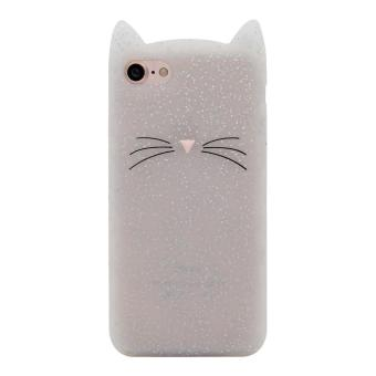 iPhone 5 5s Case,Cute 3D Gray Glitter MEOW Party Cat Kitty Whiskers Soft Silicone Case for iPhone 5 5s 5SE (Cat-Glitter) - intl - 4