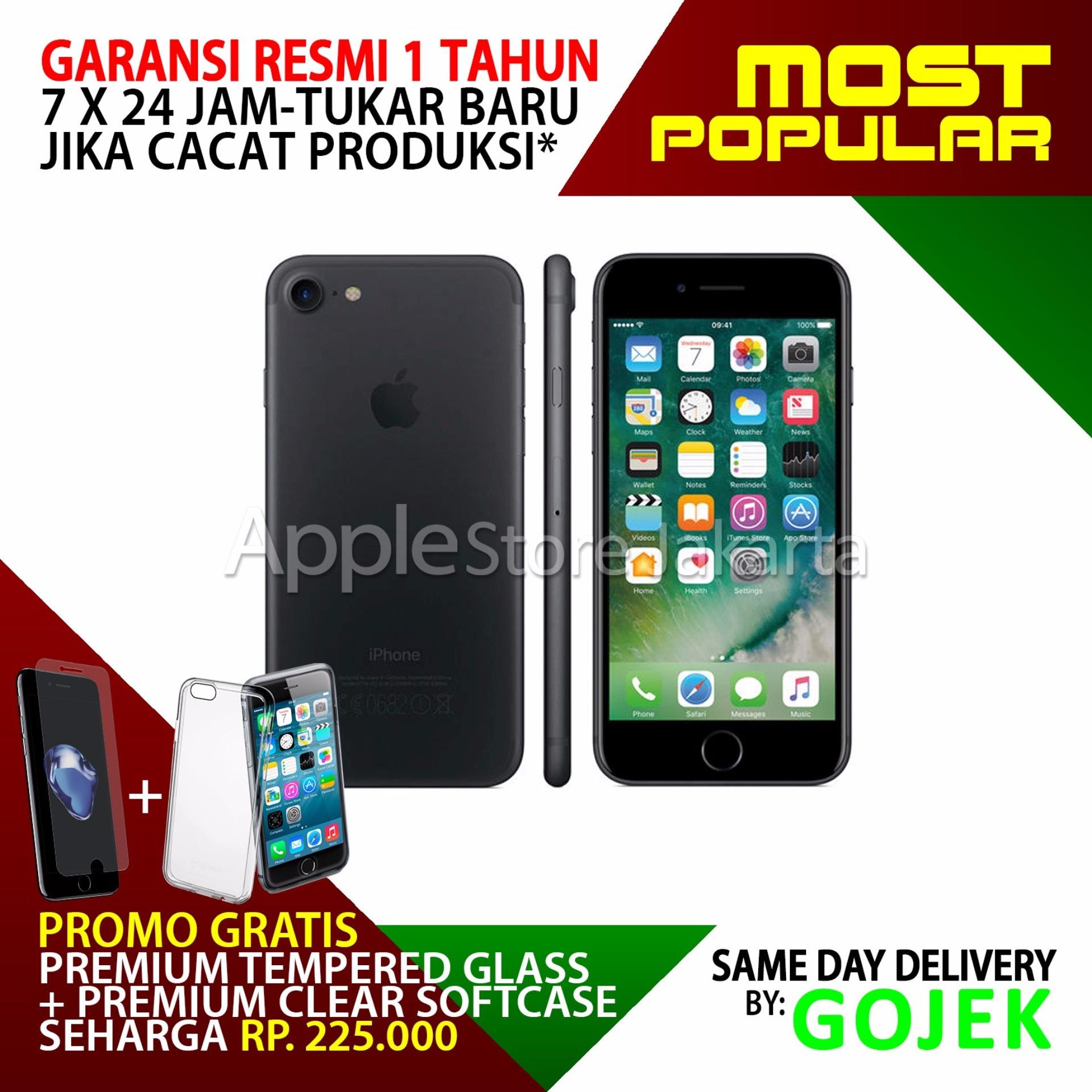 Penawaran Bagus iPhone 7 - 32GB - Black Matte Free Premium Tempered ... 1da2370594