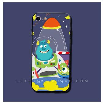 HEMAT Iphone77splus rambut lucu beberapa kartun mata besar aberdeen lengan pelindung shell telepon MURAH