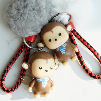 JUAL IPhone7plus Kartun Monyet Lanyard Bola Rambut MURAH