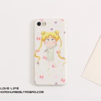 Belanja Terbaik Iphone8/8 PLUS/7Plus perempuan lucu gadis filter warna layar penuh shell