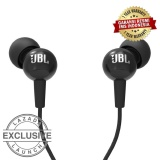 JBL C100SI In-Ear Headphones with Mic - Compatible with Android & iOS - Hitam